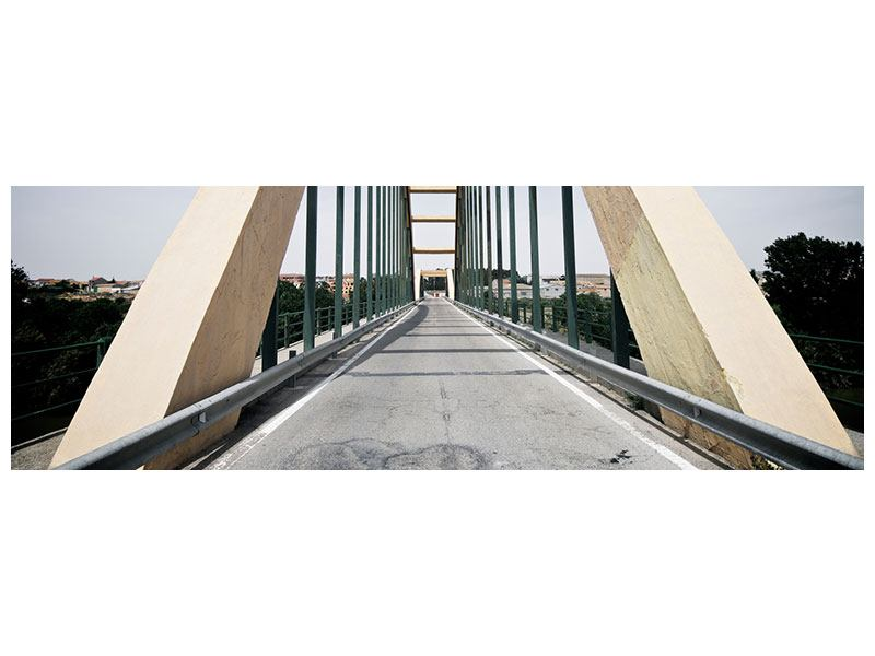 Poster Panorama Imposante Hängebrücke