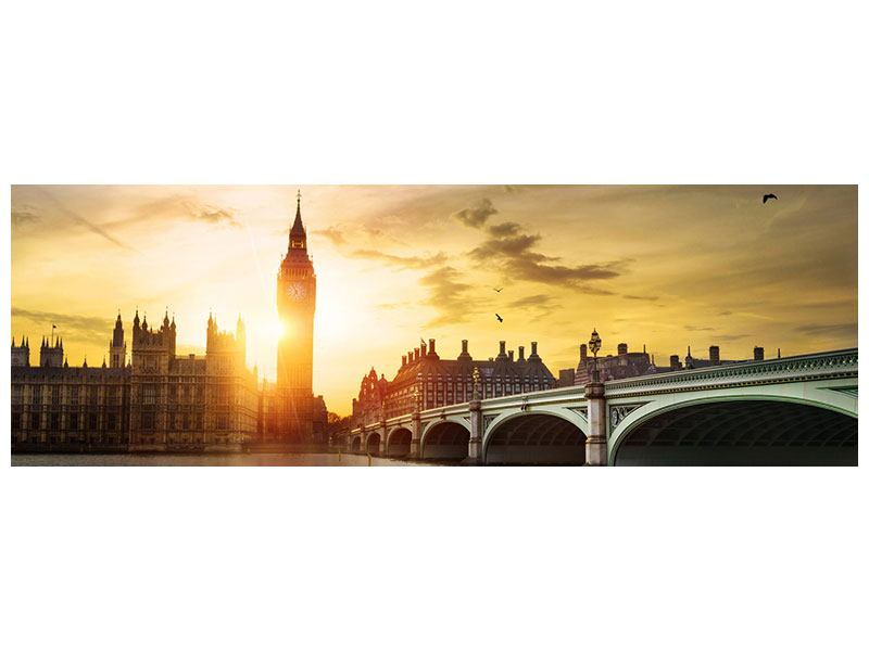 Poster Panorama Skyline Big Ben im Sonnenuntergang