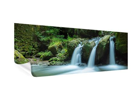 Poster Panorama Fallendes Wasser