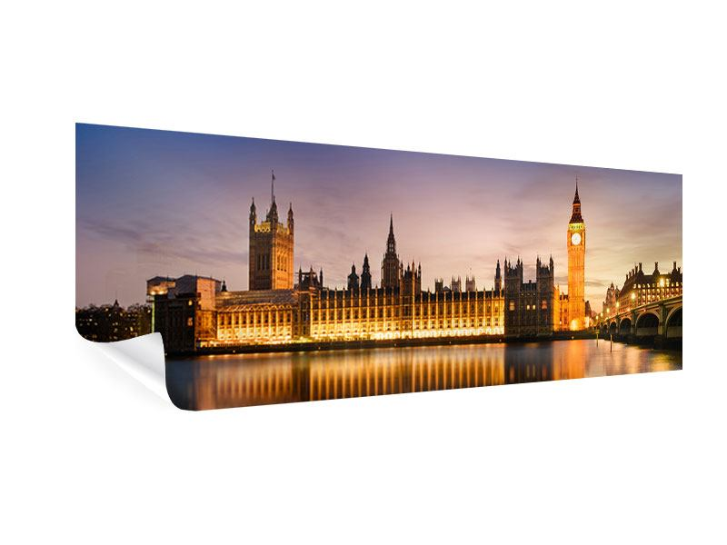 Poster Panorama Big Ben in der Nacht