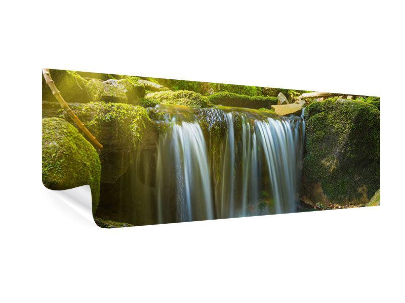 Poster Panorama Schönheit des fallenden Wassers