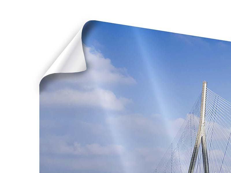 Poster Panorama Die Pont de Normandie