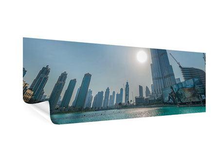 Poster Panorama Wolkenkratzer-Architektur Dubai