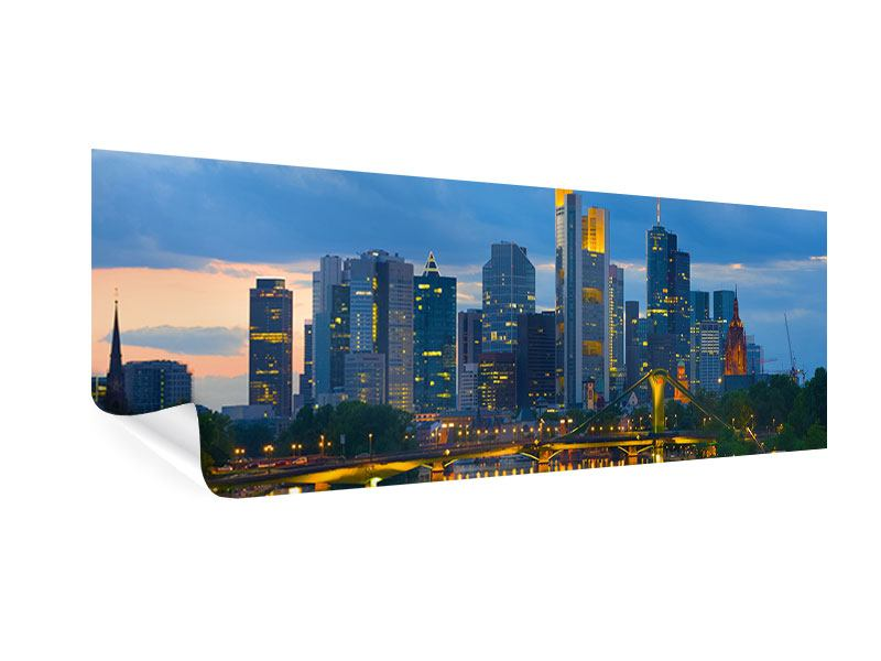 Poster Panorama Skyline Frankfurt am Main