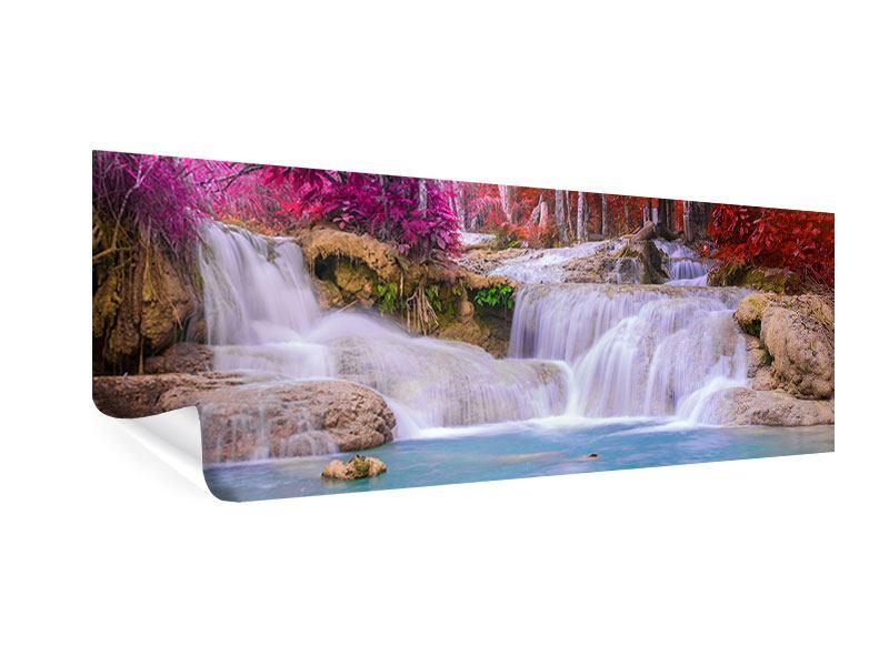 Poster Panorama Paradiesischer Wasserfall