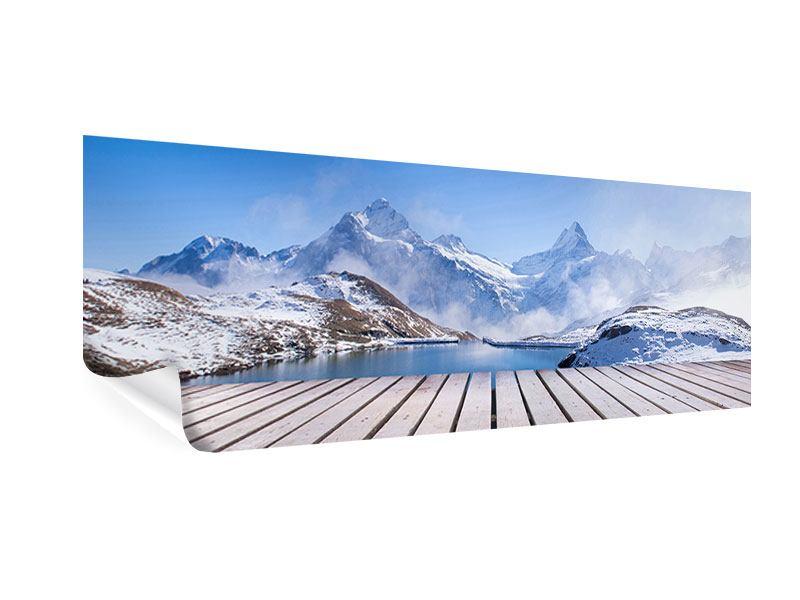 Poster Panorama Sonnenterrasse am Schweizer Bergsee
