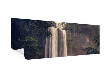 Poster Panorama Wasserfall in Mexiko
