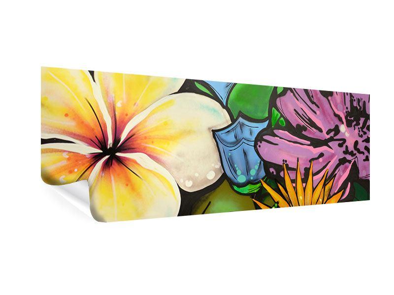 Poster Panorama Graffiti Flowers