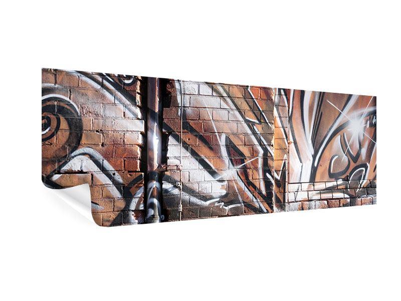 Poster Panorama Graffiti Mauer