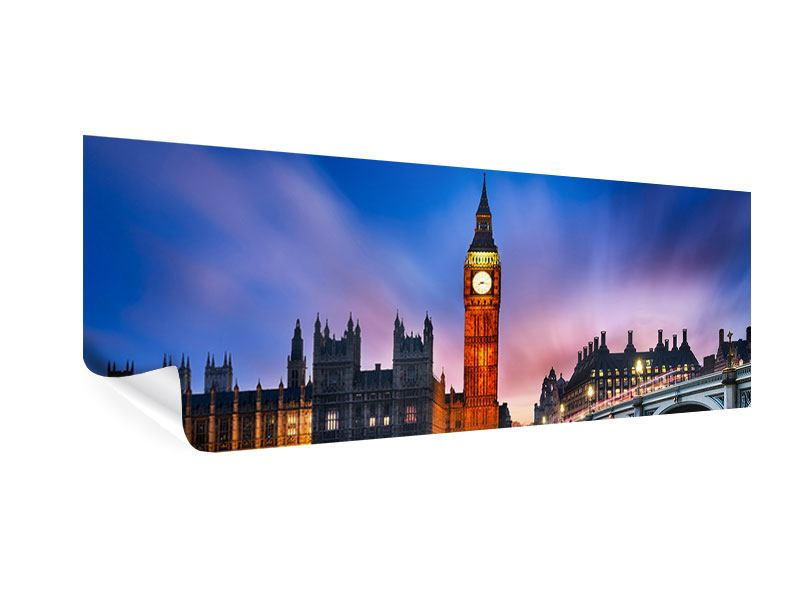 Poster Panorama Nachts am Big Ben