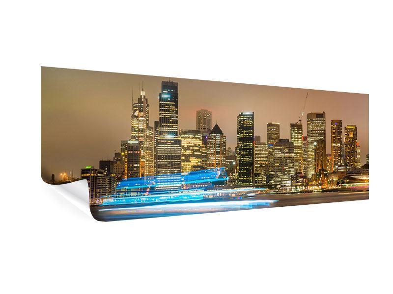 Poster Panorama Skyline Sydney im Lichtermeer