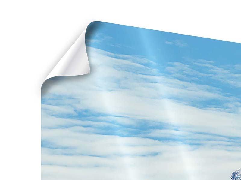 Poster Panorama Friedliche Bergstimmung