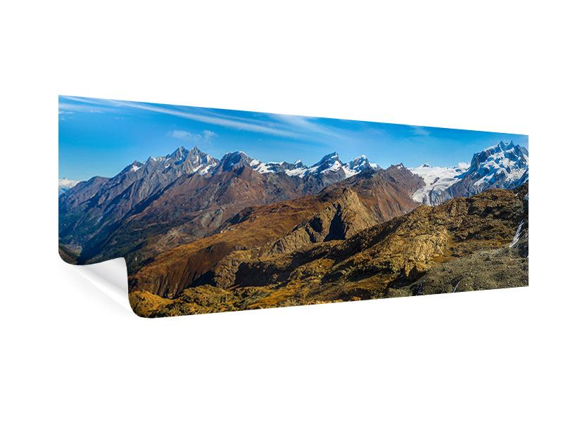 Poster Panorama Schweizer Alpen im Frühling