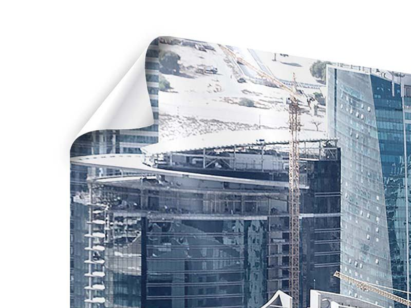Poster Panorama Die Wolkenkratzer von Dubai
