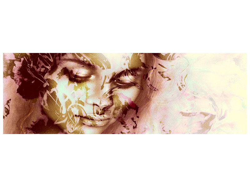 Poster Panorama Romantisches Portrait einer Schönheit