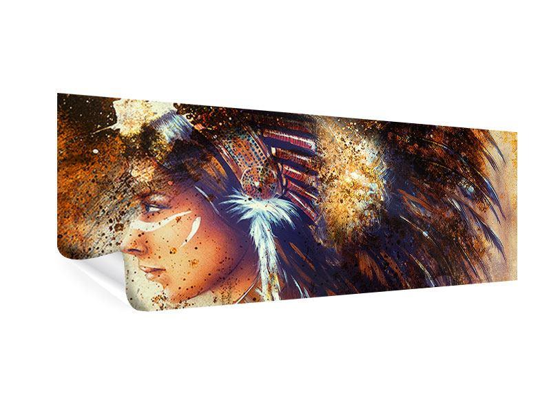 Poster Panorama Indianer