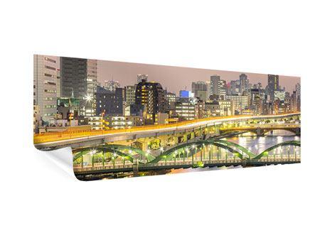 Poster Panorama Skyline Das Lichtermeer von Tokio