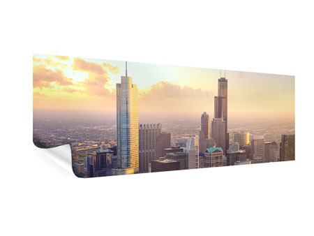 Poster Panorama Skyline Chicago