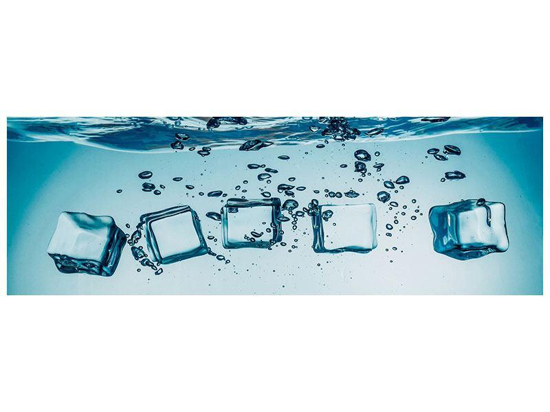Poster Panorama Eiswürfel-Quadro