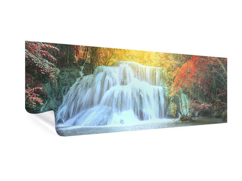 Poster Panorama Wasserfall im Licht