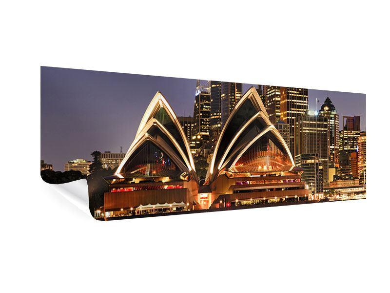 Poster Panorama Skyline Mit dem Boot vor Sydney