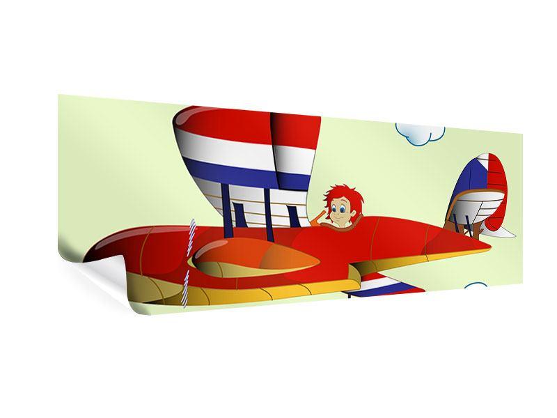 Poster Panorama Der fliegende Junge