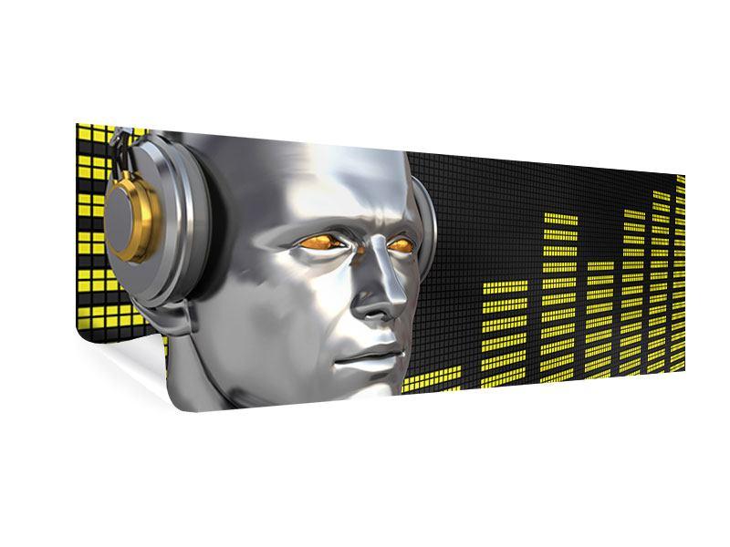Poster Panorama Futuristischer DJ