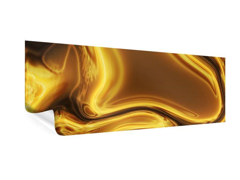 Poster Panorama Abstrakt Flüssiges Gold