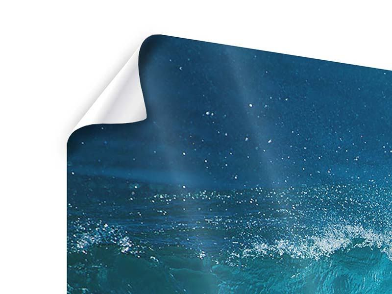 Poster Panorama Die perfekte Welle