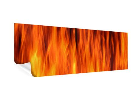Poster Panorama Feuer Close Up