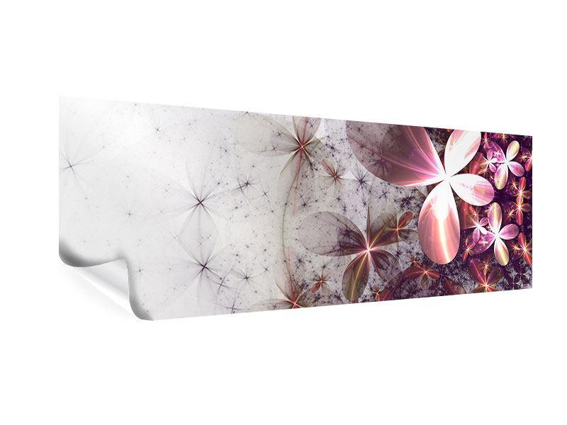 Poster Panorama Abstrakte Blumen