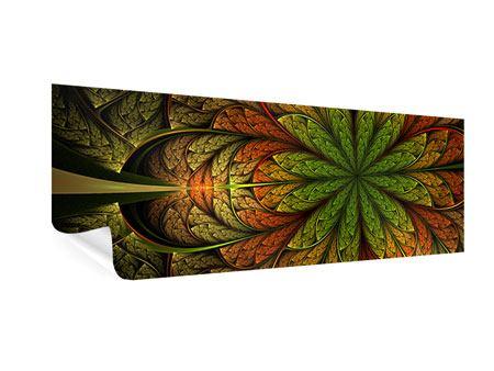 Poster Panorama Abstraktes Blumenmuster