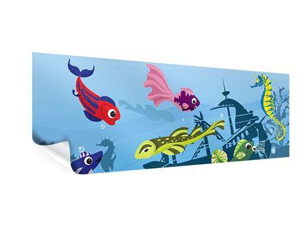 Poster Panorama Fische im Wasser