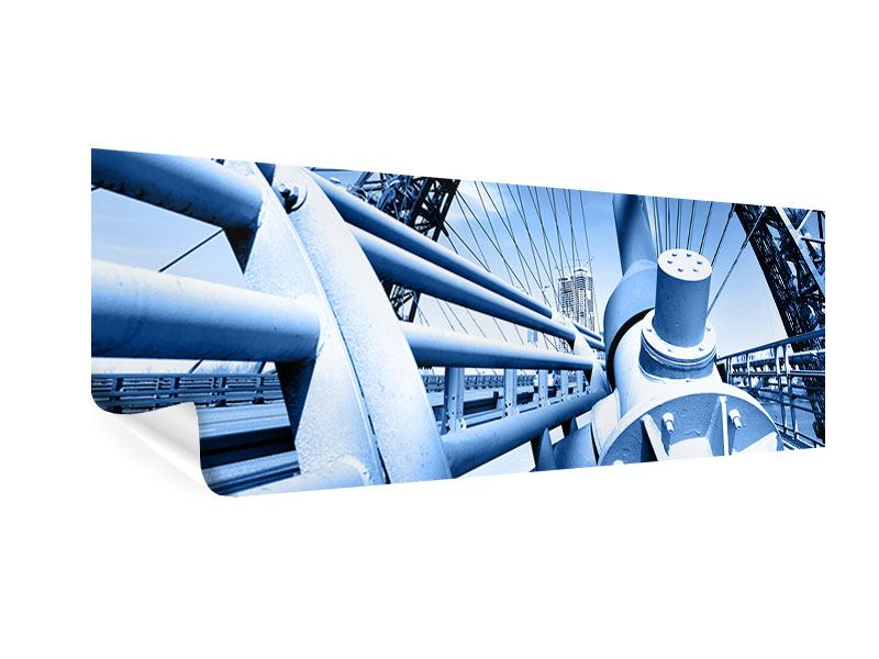 Poster Panorama Avantgardistische Hängebrücke