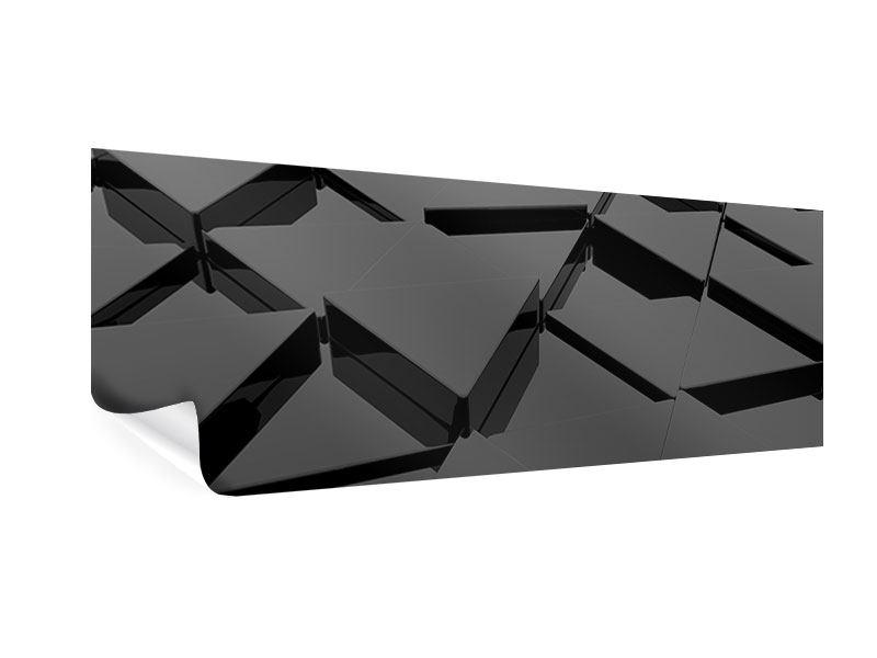 Poster Panorama 3D-Dreiecksflächen