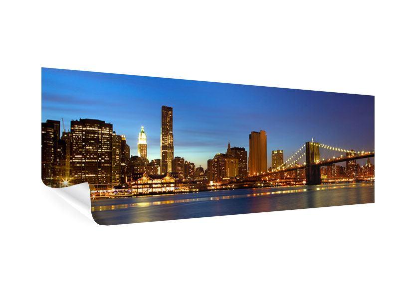 Poster Panorama Skyline Manhattan im Lichtermeer