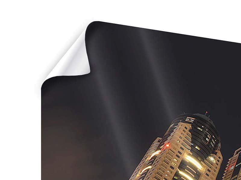 Poster Panorama Wolkenkratzer Dubai Marina