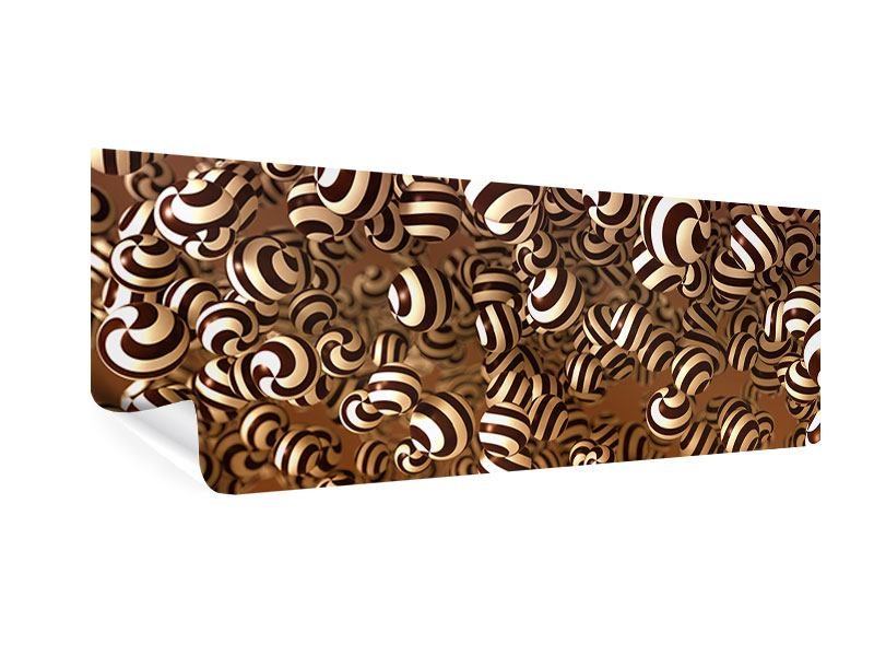 Poster Panorama Schokoladen-Bonbons