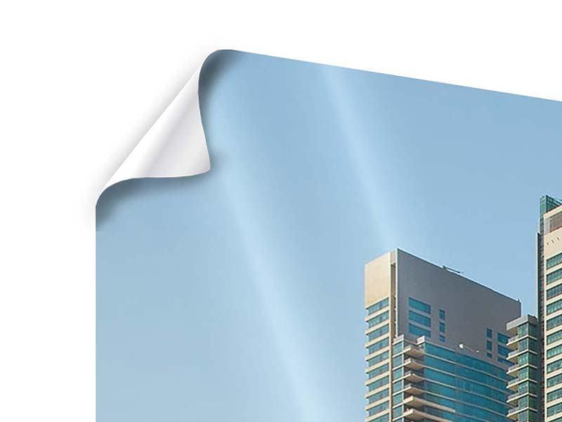 Poster Panorama Spektakuläre Wolkenkratzer Dubai