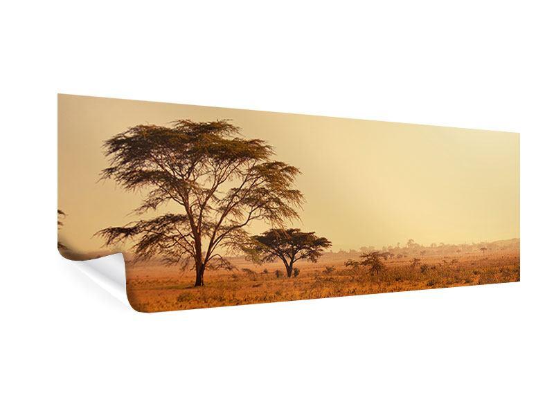 Poster Panorama Weideland in Kenia