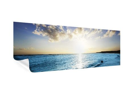 Poster Panorama Das Meer im Sonnenaufgang