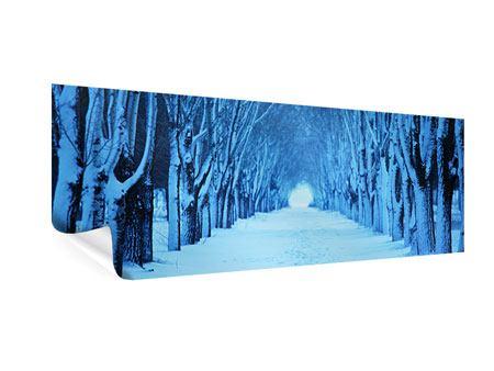 Poster Panorama Winterbäume