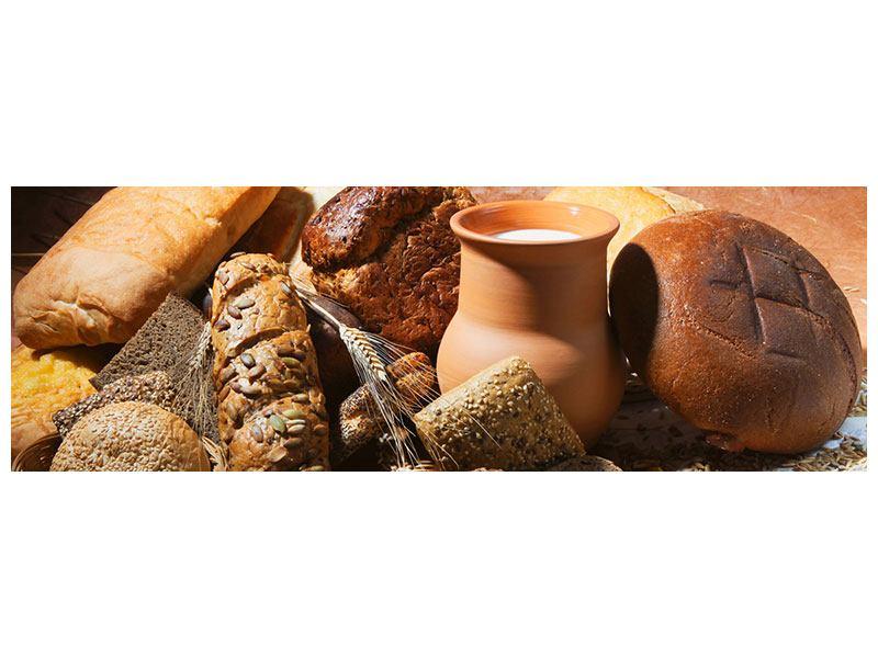 Poster Panorama Frühstücksbrote