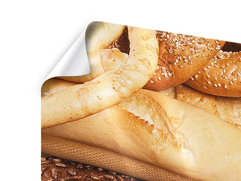 Poster Panorama Brot und Bretzel