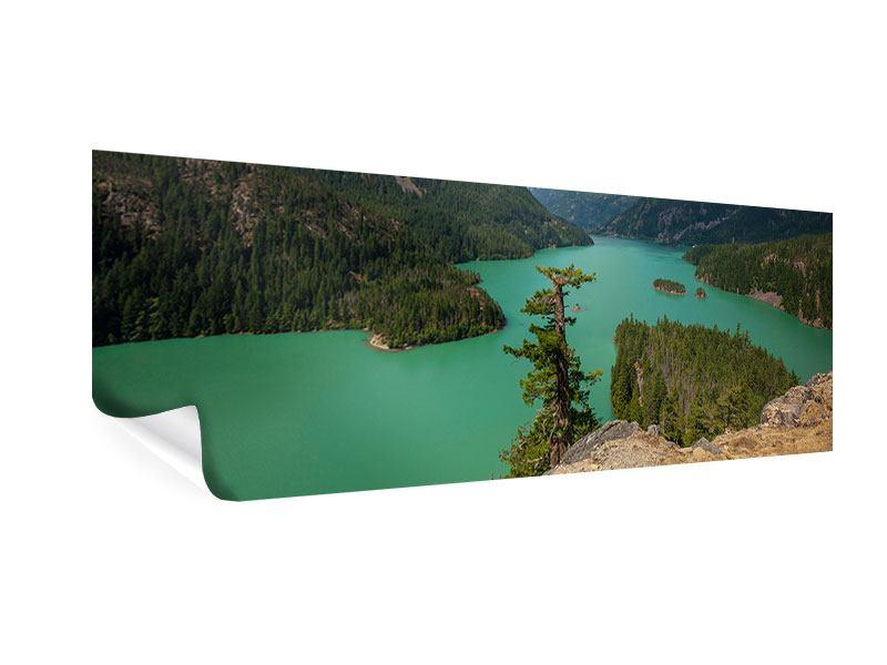 Poster Panorama Diablo Bergsee