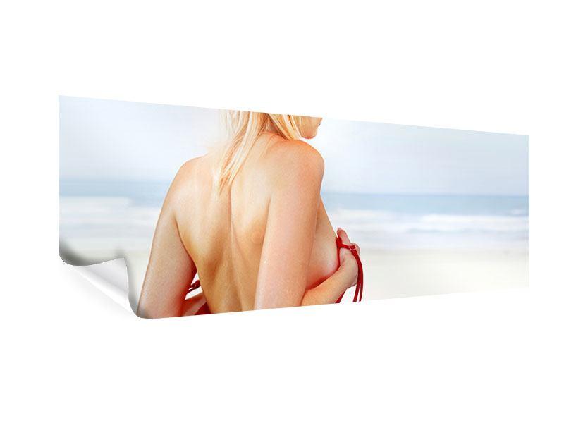 Poster Panorama Rücken einer Schönheit