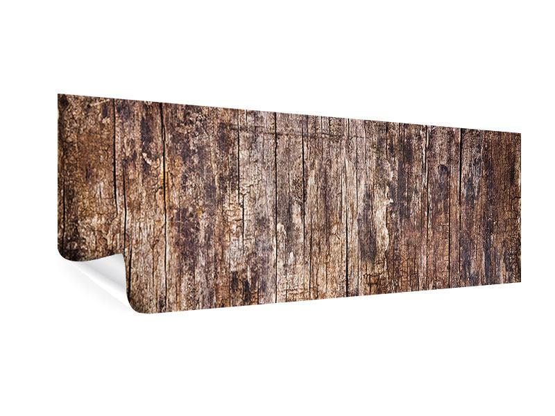 Poster Panorama Retro-Holz