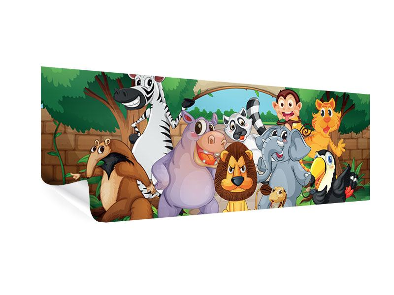 Poster Panorama Der lustige Zoo