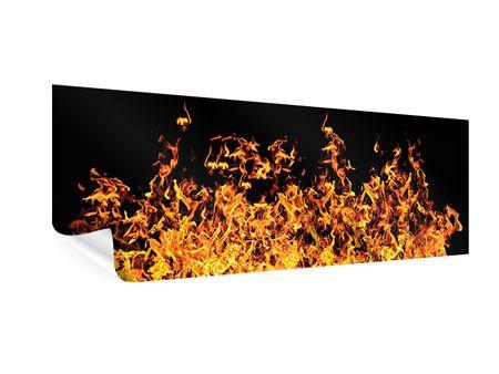 Poster Panorama Moderne Feuerwand