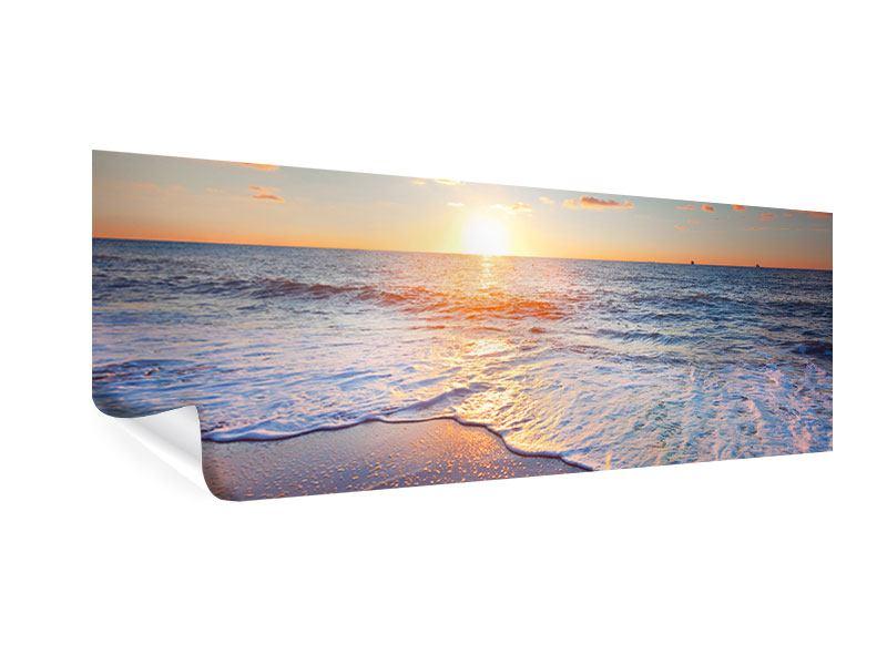 Poster Panorama Sonnenuntergang am Horizont